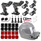 WLPREOE 2 Pack Motorcycle Riding Helmet Chin Mount Accessories Kit for Vlog POV for GoPro Hero 8 7 and Other Action Camera