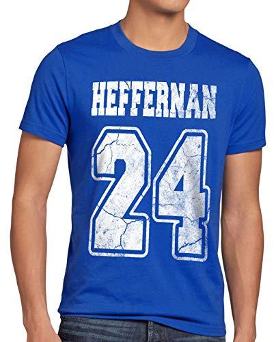 style3 Heffernan 24 T-Shirt Herren Doug Queens Sitcom, Größe:M, Farbe:Blau