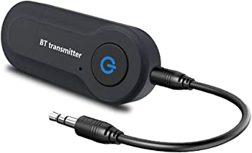 Bluetooth Transmitter V4.2 USB Wireless Bluetooth Transmitter Adapter Connected to 3.5mm Audio Receiver Devices Low Latency Paired for PC TV Headphones Car Home Stereo Music