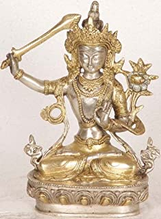 Manjushri, The Compassionate Bodhisattva - Brass Statue