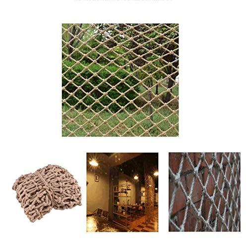 KUANDARGG Cuerda de cáñamo tejida a mano multifuncional para decoración de pared, red de protección de aislamiento, cuerda gruesa, 6 mm-10 cm, 3 x 3 m