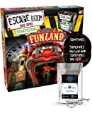 Juego de ampliación Escape Room – Set Welcome to Funland – Juego familiar y de sociedad para adultos – Solo se puede jugar con el decodificador Chrono + 2 pegatinas Escape + 1 adorno de metal