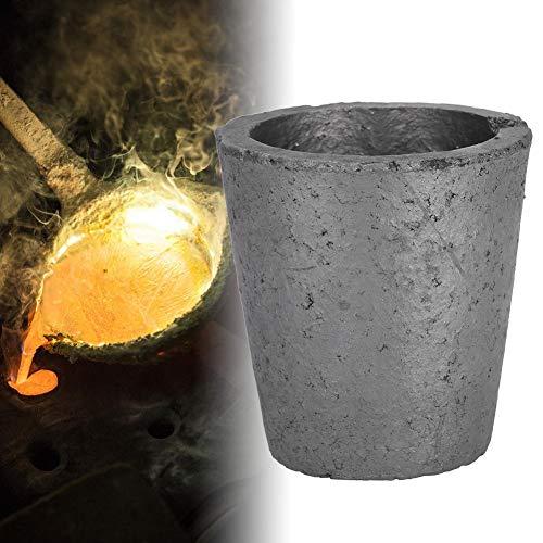 4Kg Graphit Ofen Gießerei Schmelztiegel Schmelzwerkzeug, aus Siliziumkarbidgraphit, Zum Schmelzen von Edelmetallen