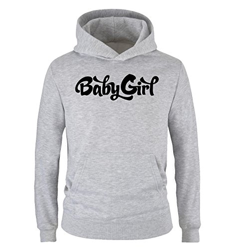Comedy Shirts - Baby Girl - Criminal Minds - Kinder Hoodie - Grau/Schwarz Gr. 98/104