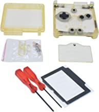 Meijunter  Housing Shell Case Repair Parts Set for Gameboy Advance SP GBA SP Console(Transparent Clear Yellow)