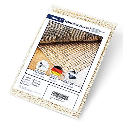 Lumaland Teppichunterlage Antirutschmatte rutschfeste Unterlage Teppich Stopper Antirutschpad 120x180cm
