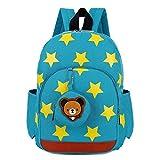 NA ECSWP Cartera de los niños, Mochila con cinturón de Seguridad for Evitar la pérdida, Apto for niños en Edad Preescolar (Color : Green)