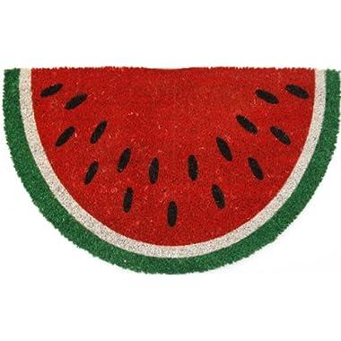 Entryways Watermelon Non- Slip Coconut Fiber Doormat 17  X 28  X .5