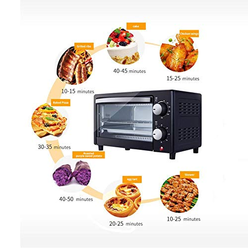 Toaster Oven,Multi-Function Stainless Steel Finish Mini Baking Oven with Timer-Toast-Bake-Broil Settings,Natural Convection-800 Watts of Power 12L