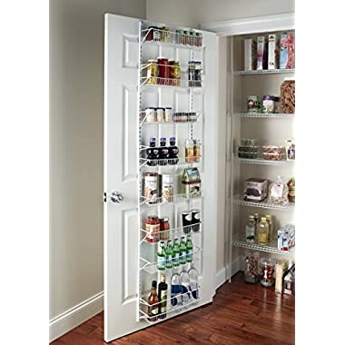 G&R Gracelove Over The Door Spice Rack Wall Mount Pantry Kitchen 8-Tier Cabinet Organizer