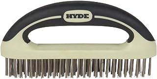 HYDE 46838 MAXXGRIP PRO Wire Brush, 8-Inch, Beige
