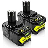 2Pack 6.5Ah P108 18Volt Replacement Battery for Ryobi 18V Lithium Battery P102...