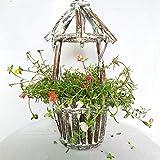 WMX Alte Hölzerne Blumentöpfe - Kreative Hölzerne Tonnenförmige Fleischige Blumentöpfe, Passend Für Innenministerium-Balkon-Im Freiengarten-Gebrauch
