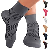 TechWare Pro Ankle Brace Compression Socks - Plantar Fasciitis Socks with Arch Support. Foot...