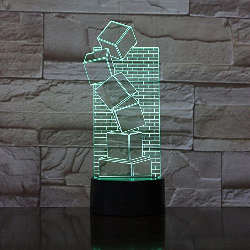 Creativo Multi-Color 3D lámpara acrílico LED USB lámpara de mesa decoración dormitorio sala regalo