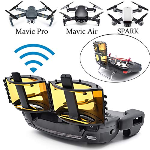 Crazepony-UK Foldable Parabolic Signal Booster Range Extender Antenna for DJI Mavic Pro/Mavic 2 Pro/Mavic 2 Zoom/Mavic Air/Spark Remote Controller Accessories