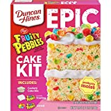 Contains one 28.5-ounce Duncan Hines Epic Baking Kit, Fruity Pebbles Cake Mix Kit Each kit includes: confetti cake mix, Fruity Pebbles flavored frosting, Fruity Pebbles cereal and detailed directions on how to make a yummy dessert Makes the perfect c...