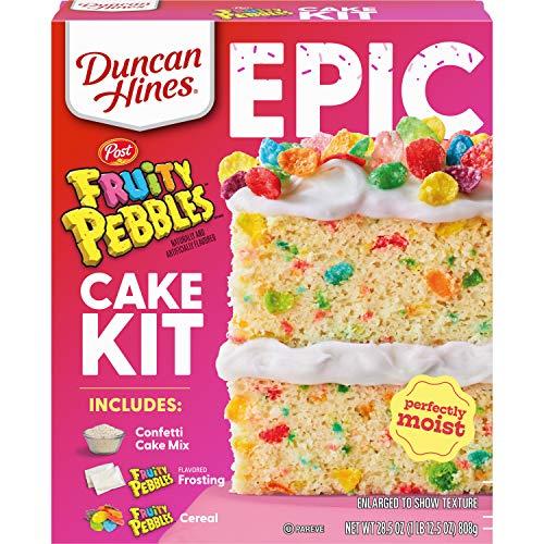 Duncan Hines Epic Kit, Fruity Pebbles Cake Mix Kit, 28.5 oz.