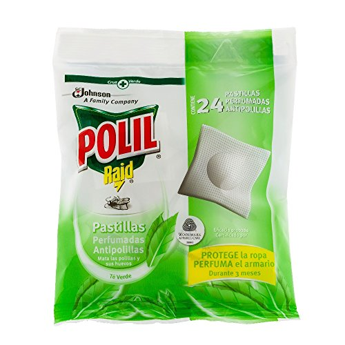 Polil Raid Pastillas Perfumandas Antipolillas Té Verde -