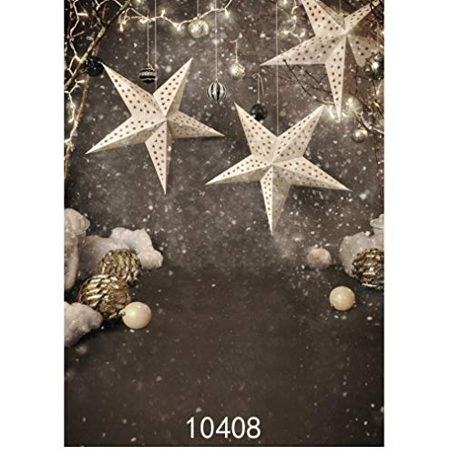 Julstjärna grå fotograferingsbakgrund foto bakgrund för fotostudio fotografisk rekvisita kyld babyfödd fotografi 5 x 7 fot 150 cm x 220 cm