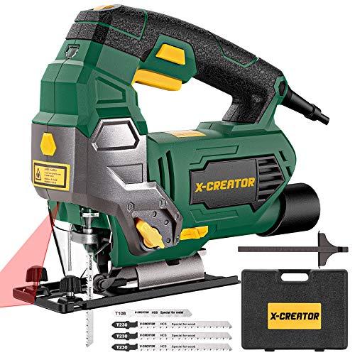 X-Creator - Sierra de calar eléctrica (800 W y 3000 SPM) con...