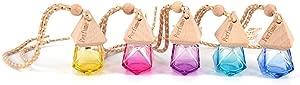 AOWA 1Pcs Air Freshner Car Hanging Perfume Bottle Refillable Fragrance Diffuser Empty Glass Bottle
