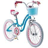 RoyalBaby Girls Bike Stargirl 18 Inch Girl's Bicycle With Kickstand Basket Child's Girl's Bike Blue