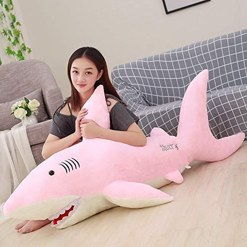 JMHomeDecor Plush Toy 130Cm Giant Plush Sharks Toys Stuffed Animals Simulation Fish Doll Soft Shark Pillow Cushions Kids Toys For Children
