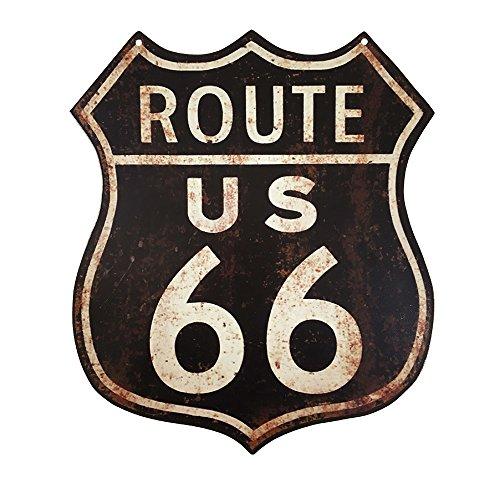 zeitzone Blechschild Route 66 US Roadsign Nostalgie Vintage Straßenschild 35x30cm