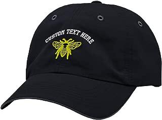 Custom Richardson Running Cap Flying Bee Embroidery Polyester Hat Hook & Loop