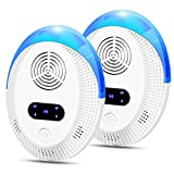 ltrasonic Frequency Conversion Pest Repeller Electronic Plug in Indoor Pest Repellent 2 Packs, Five-Speed Adjustment Electronic Repellant - Bug Repellent for Ant, Mosquito, Mice, Spider, Roach