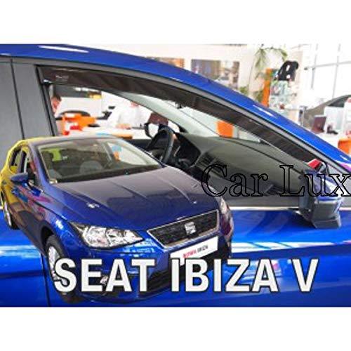 Car Lux AR01416 - Derivabrisas Deflectores de Aire Cortavientos de Ventanillas Delanteros para Ibiza 6F Desde 2017-