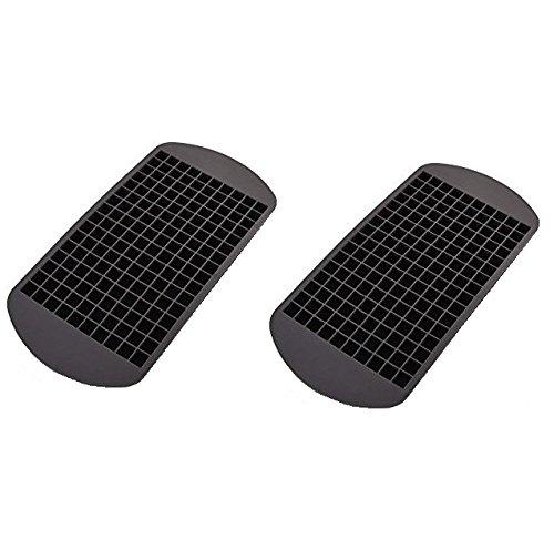Eiswürfelformen aus Silikon – 2er Pack für je 160 Eiswürfel – Größe der Eiswürfel: 1x1 cm - riesige Eiswürfelform - Mega Eiswürfelpack
