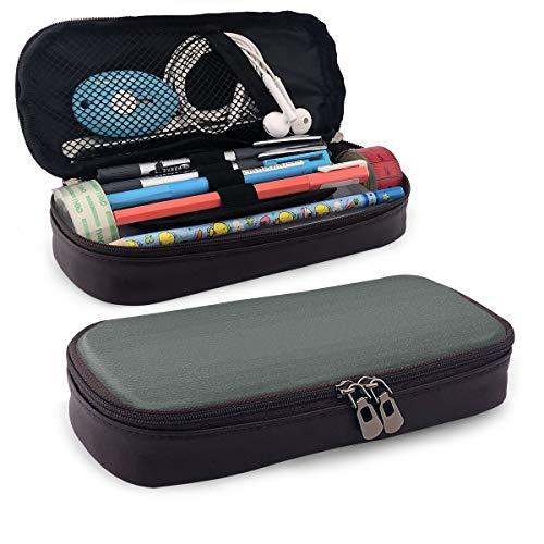 Pencil Case Big Capacity Storage Holder Desk Pen Pencil Marker Stationery Organizer Pencil Pouch with Zipper,Fume Fog Dark Smoke Industry Theme Inspired Dark Gray Colored Modern