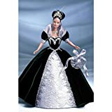mattel BARBIE poupée brune teresa special millenium edition princess - robe de bal en velours vert et argent - boule d'ornement 2000 -