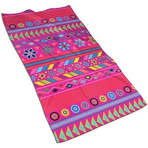 Snbin Toallas de Mano de Microfibra Rosa Fuerte a Rayas peruanas Toallas de Secado rápido Toallas Deportivas (40x70 cm) Uso para Viajes, Fitness, Yoga