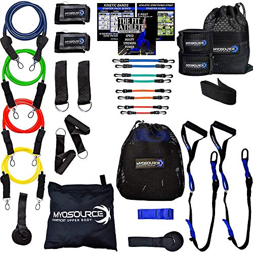 Kinetic RT Full Body Workout Kit Strengthens Individual Muscle Groups for an Exceptional at Home Workout – Includes Kinetic Leg Resistance Bands, Upper Body Exercise Bands and Suspension Straps