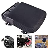 Motor-mh Motorcycle Cruiser Seat Air Cushion Pad for Comfortable Traveling Pressure Relief Durable Fabric Fits Most Seats of Sport Touring Saddles 11.5'x 9'