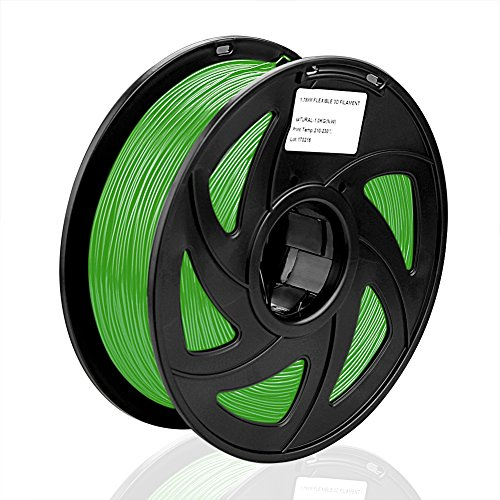 S SIENOC 1Kg Composite PLA 1,75mm 3D Printer Filamento Spool 3D Materiale di stampa per stampanti (PLA Verde)