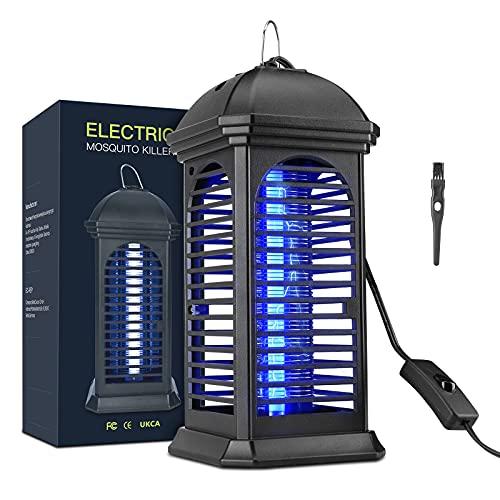 EWEIMA Lámpara Antimosquitos Eléctrico, UV LED Mosquito Lámpara Trampa, 1200V Lámpara Anti...
