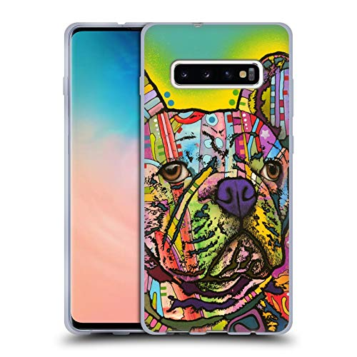 Head Case Designs Officially Licensed Dean Russo French Bulldog Dogs Soft Gel Case Compatible with Samsung Galaxy S10+ / S10 Plus
