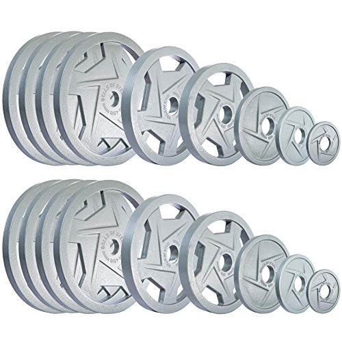 Bells of Steel Mighty Grip Olympic Weight Plates 2.1 515lb Set 2 Each of 2.5-5 -10-25 - 35 - & (8) 45lb