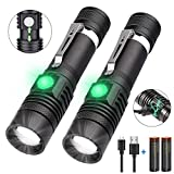 Hoxida Rechargeable Flashlight(Battery Included),1200 Lumen Super Bright LED Flashlight, Cree LED, Water-Resistant,Zoomable,4 Mode Flashlight - Best Camping, Hiking, Emergency Flashlight
