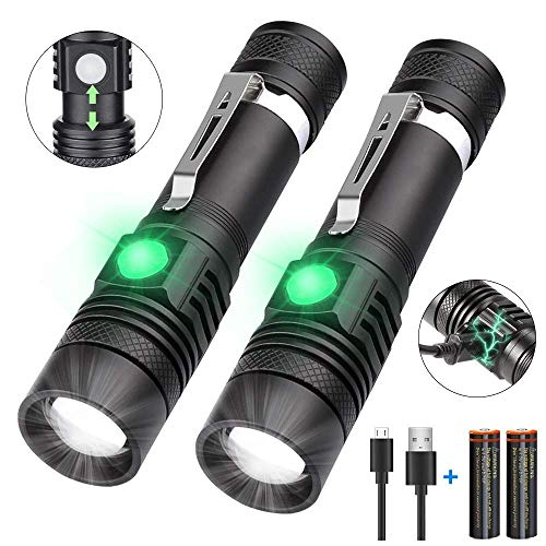 Rechargeable Flashlight(Battery Included),1200 Lumen Super Bright LED Flashlight, Cree LED, Water-Resistant,Zoomable,4 Mode...