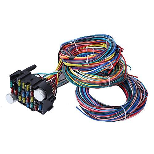 Akozon Kit de arnés de cableado de 21 circuitos Arnés del chasis para autocaravana universal de 12 V camión y RV