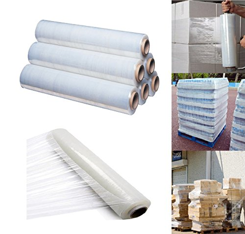 400mm X 250 meter Rolls Clear Pallet Stretch Shrink Wrap Parcel Packing Cling Film Pack of 1