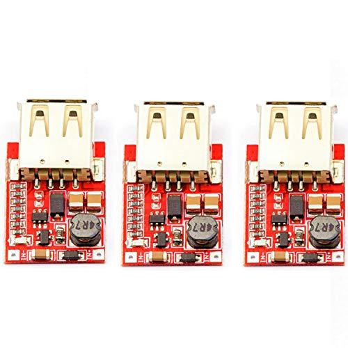 DaFuRui 3pcs Mini DC Boost Converter Regulator Module,USB DC-DC Step up 3V to 5V 1A Convert Voltage Regulator Board for Mobile Phones、MP3、MP4 and PSP