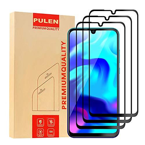 PULEN [3 Pack] Huawei P Smart 2020 Pellicola Protettiva, in vetro Temperato Premium 9H protezione scratch Resistente [Anti-riflesso Ultra-Clear][Anti-Impronte] [Senza Bolle] (Nero)