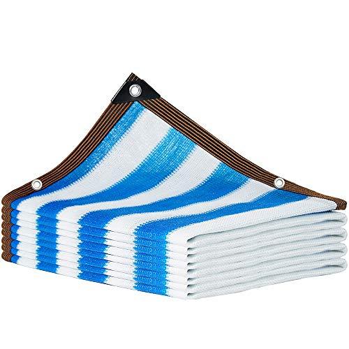 bdb 90% De Sombreado Vela De Sombra Material De Polietileno De Alta Densidad Toldo De Tela Tejido Apretado Toldo Vela De Sombra para Plantas De Flores (Color : Azul, tamaño : 2x5m)