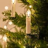 Lights4fun Guirnalda DE 50 Velas LED con Pinzas para Árbol de Navidad